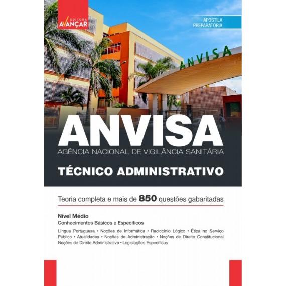 ANVISA - Agência Nacional de  Vigilância Sanitária: Técnico Administrativo - E-book