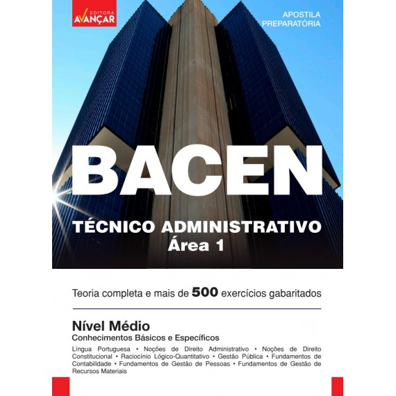BACEN - Técnico Administrativo - Área 1 - Ebook