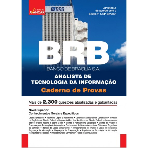 BRB - Banco de Brasília S.A - Analista de Tecnologia da Informação - Caderno de Provas - E-book