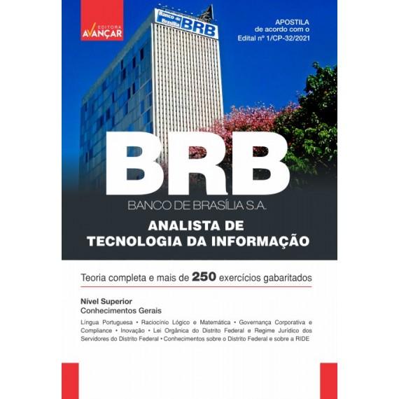 BRB - Banco de Brasília S.A - Analista de Tecnologia da Informação - Conhecimentos Gerais - E-book