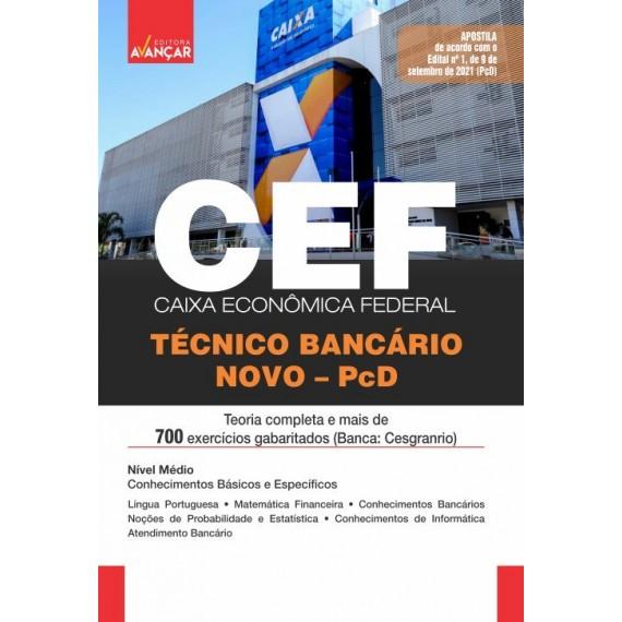 CAIXA ECONÔMICA FEDERAL - CEF - Técnico Bancário Novo - PcD - E-book