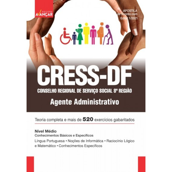 Conselho Regional de Serviço Social 8ª Região - CRESS-DF - Agente Administrativo - E-book