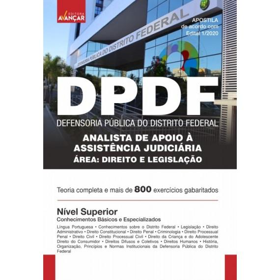 DPDF - Analista de Apoio à Assistência Judiciária - Direito e Legislação - Ebook