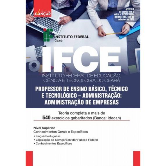 IFCE: Professor de Ensino Básico, Técnico e Tecnológico: Administração de Empresas- E-book
