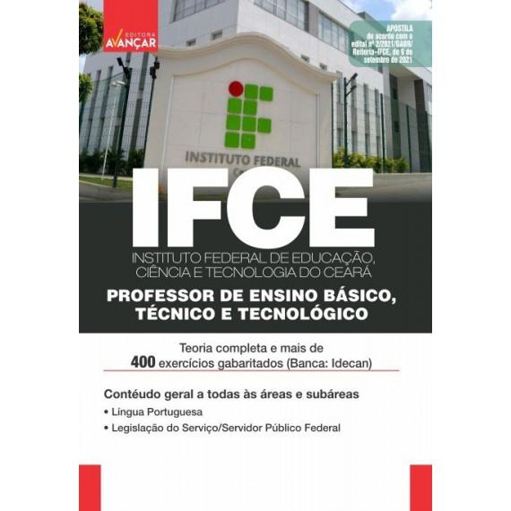 IFCE: Professor de Ensino Básico, Técnico e Tecnológico: Conhecimentos Gerais - Impresso