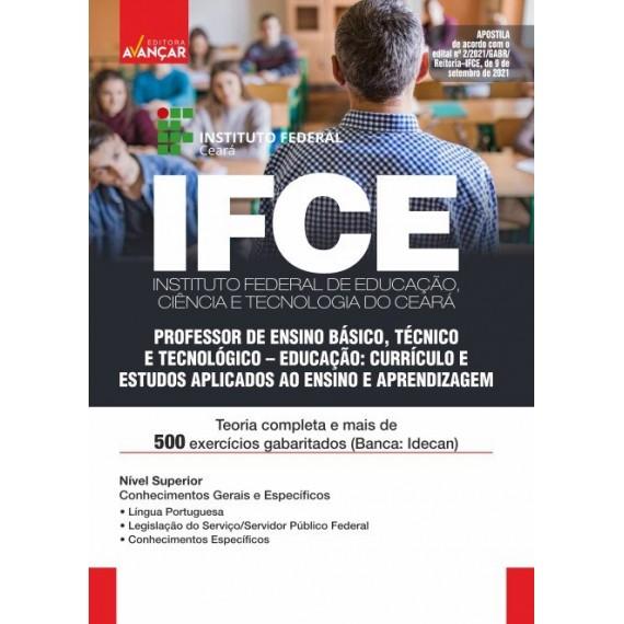 IFCE: Professor de Ensino Básico, Técnico e Tecnológico: Educação: Currículo e Estudos Aplicados ao Ensino e Aprendizagem - E-book