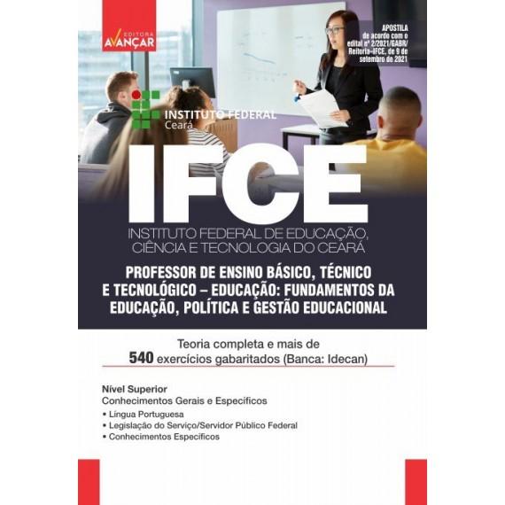 IFCE: Professor de Ensino Básico, Técnico e Tecnológico: Educação: Fundamentos da Educação, Política e Gestão Educacional - E-book