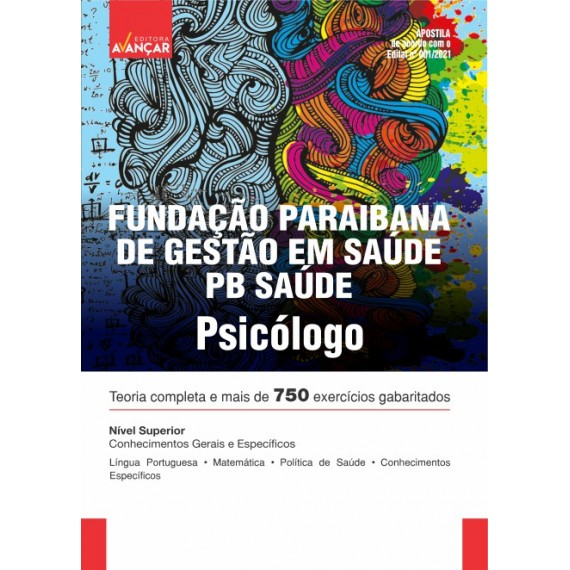 PB SAÚDE - Fundação Paraibana de Gestão em Saúde - Psicólogo - Impresso