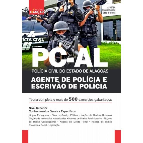 PCAL - Polícia Civil do Estado do Estado de Alagoas: Escrivão de Polícia Civil  e Agente de Polícia Civil - Impresso