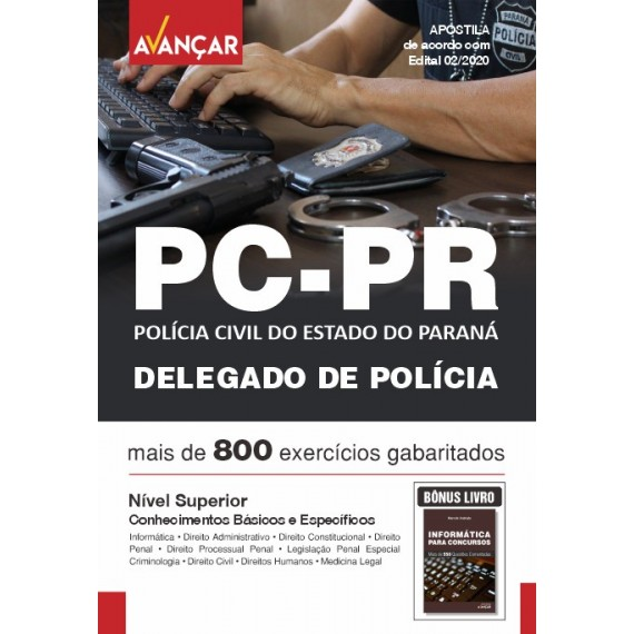 PCPR - Delegado da Polícia Civil do Estado do Paraná- Ebook