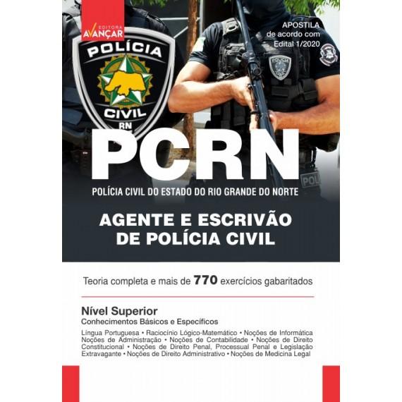 PCRN - Agente e Escrivão de Polícia Civil do Rio Grande do Norte - Impresso