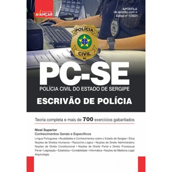 PCSE - Polícia Civil do Estado de Sergipe: Escrivão de Polícia Civil - Impresso