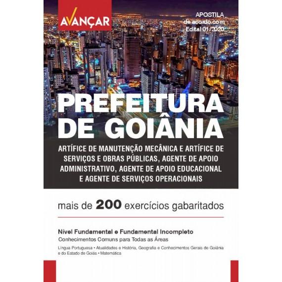 Prefeitura de Goiânia GO - Nível Fundamental e Fundamental Incompleto - Impresso
