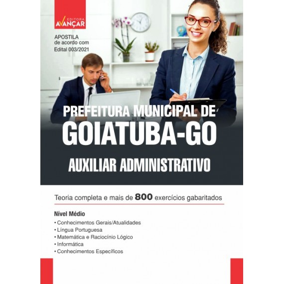 Prefeitura Municipal de Goiatuba - GO - Auxiliar Administrativo - Impresso