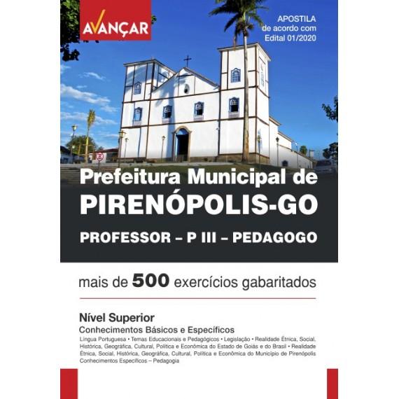 Prefeitura de Pirenópolis/GO - Professor - PIII - Pedagogo - Ebook
