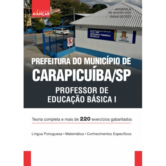 Prefeitura do Município de Carapicuíba SP - Professor de educação Básica I - Ebook