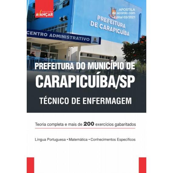 Prefeitura do Município de Carapicuíba SP - Técnico de Enfermagem - Impresso