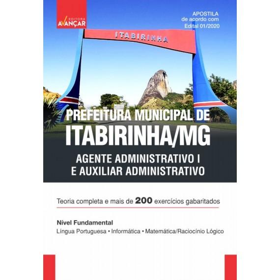 Prefeitura Municipal de Itabirinha MG - Agente Administrativo I e Auxiliar Administrativo - Ebook