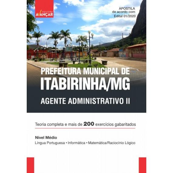 Prefeitura Municipal de Itabirinha MG - Agente Administrativo II - Ebook
