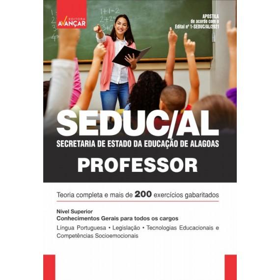 SEDUC AL - Secretaria de Estado da Educação de Alagoas - Professor: Conhecimentos Gerais para Todos os Cargos - E-book