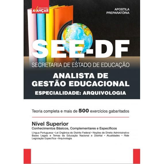 SEEDF - Analista de Gestão Educacional - Especialidade: Arquivologia - Impresso
