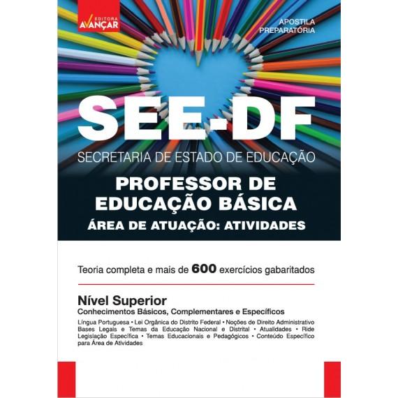 SEEDF - Professor de Educação Básica - Especialidade: Atividades - Ebook