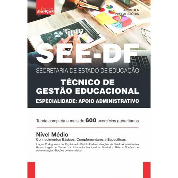 SEEDF - Técnico de Gestão Educacional - Especialidade: Apoio Administrativo - Impresso