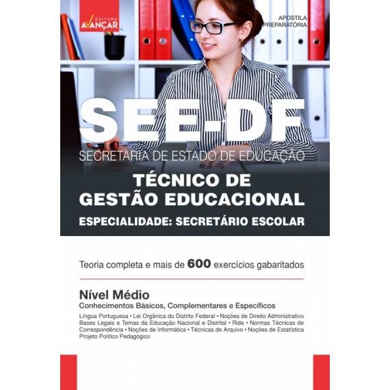 SEEDF - Técnico de Gestão Educacional - Especialidade: Secretário Escolar - Ebook