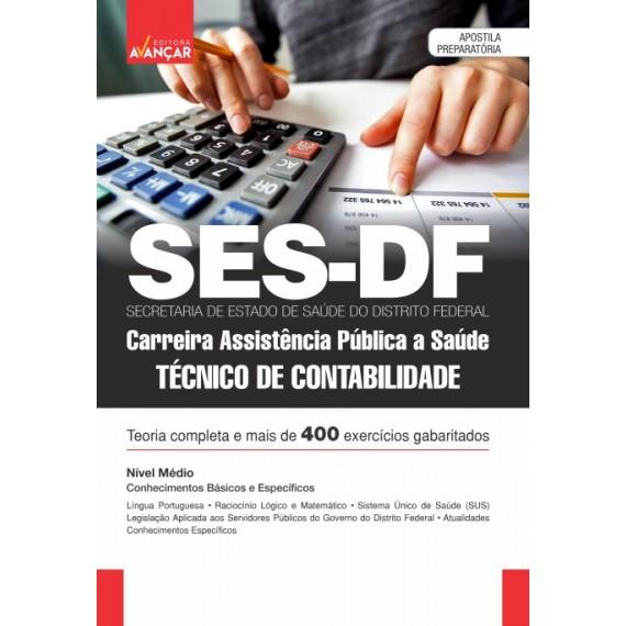 SES DF - Carreira Assistência Pública a Saúde - Técnico de Contabilidade - E-book