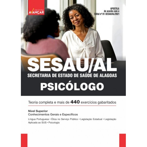 SESAU AL - Secretaria de Estado de Saúde de Alagoas: Psicólogo - E-book