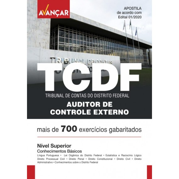 TCDF - Auditor de Controle Externo - Conhecimentos Básicos - Ebook