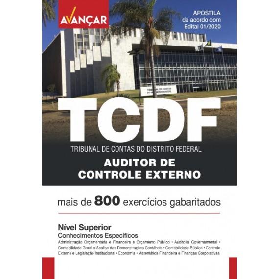 TCDF - Auditor de Controle Externo - Conhecimentos Específicos - Ebook