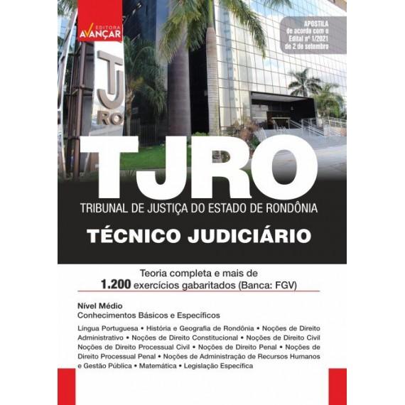 TJ RO - Técnico Judiciário: E-book